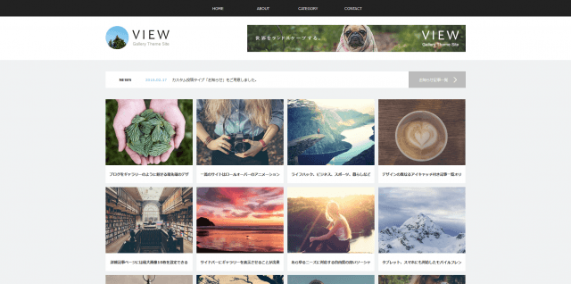 VIEW (tcd032) WordPressTheme「VIEW (tcd032)」デモサイト
