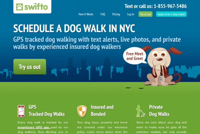 Swifto NYC Dog Walking with GPS Tracking